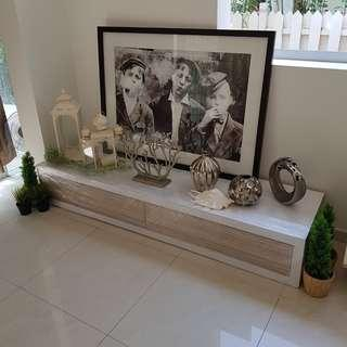 Beautiful White Wooden TV console