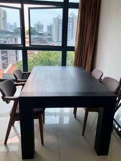Wooden Dining Table (black)