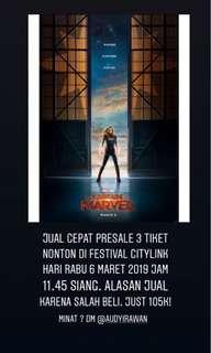 Jual Cepat Tiket Bioskop Captain Marvel