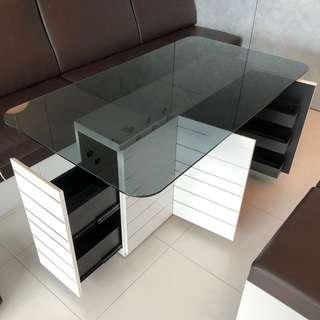 Dining Table and Stools with Storage