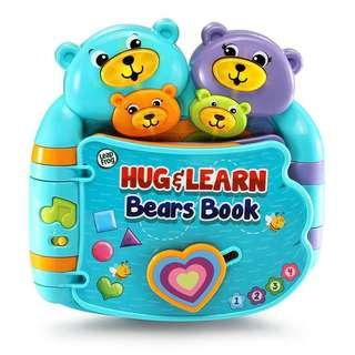 🚚 BRAND NEW LeapFrog Hug and Learn Bears Book BLUE