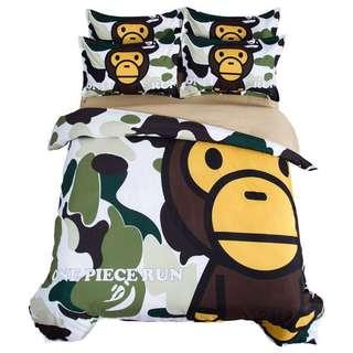 🚚 Bn Camouflage Army Print One Piece Run Quilt Cover