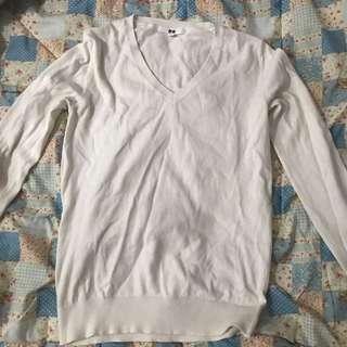 Uniqlo Knitwear Sweatshirt White