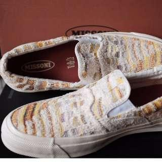 Converse First String x Missoni Slip Ons (neutrals)