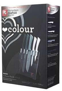 RICHARDSON SHEFFIED Impulse Colour 5-Pc Knife Set - Mono