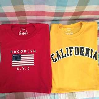 On hand Brooklyn NYC & California Cropped Tops
