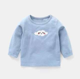 🚚 [In Stock] Baby 100% cotton pajamas pullover long sleeve shirt clothes