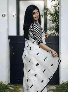 🚚 Chanderi cotton Saree