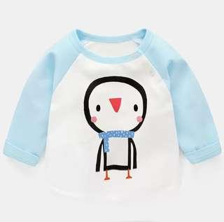 🚚 [In Stock] Baby cotton blend pajamas pullover jacket long sleeve shirt clothes