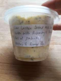 Low Lactose Milk Kefir butter with Thyme and Rosemary - Salted
