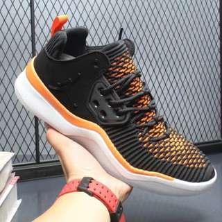 AIR Jordan DNA LX AJ 透氣編織白黑桔 男子運動訓練休閑跑鞋