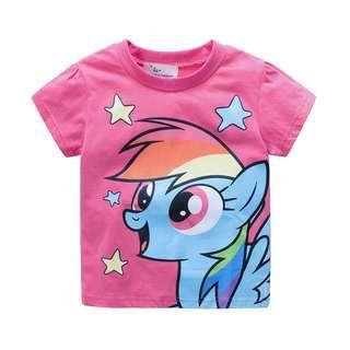 🚚 JB025 New Girls Little Pony Grey Tee T-shirt Top