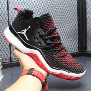 AIR Jordan DNA LX AJ 透氣編織黑紅 男子運動訓練休閑跑鞋