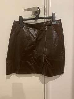 Witchery Leather Skirt