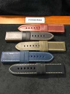 🚚 24/24mm Thick High Quality Calf Leather Straps for Panerai 44mm Models