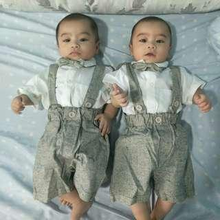 FOR SALE: (SET 2) Gray Baby Boy Formal Event Attire