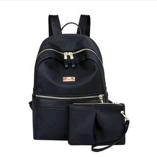 2 in 1 Korean Backpack with pouch (new)