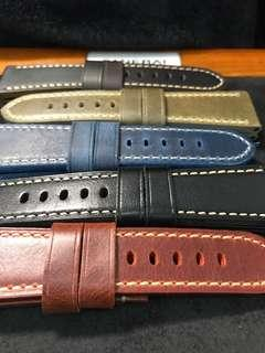 🚚 26/22mm Thick High Quality Calf Leather Straps for Panerai 45/47mm Radiomirs And 47mm Luminor/Submersible Models
