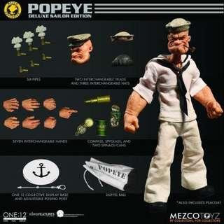 Popeye - Deluxe Sailor Edition 大力水手 shf mafex mezco dc marvel