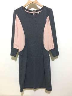 Ming 日系拼接洋裝
