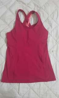 Red lululemon tank top
