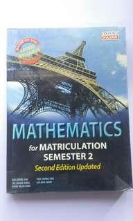 Mathematics For Matriculation Semester 2 (2nd ed.)