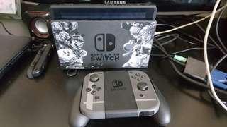 Full set Nintendo Switch Super Smash Bro limited edition