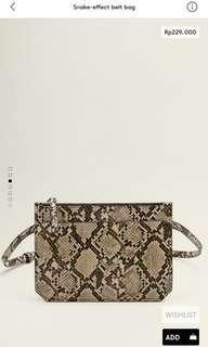 Snake-effect belt bag mango woman original