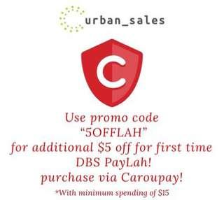 $5 off with CarouPay