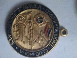 Manila-Divisoria Lions Club 301-A Philippines, Gold gilt, enameled Medal