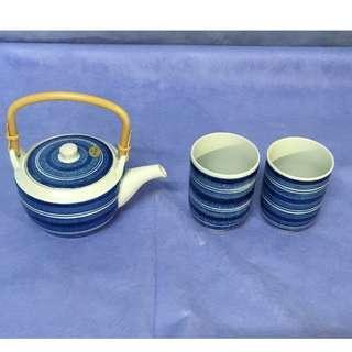 Japanese Tea Cup Set (2 pcs of Cup + Tea Pot)
