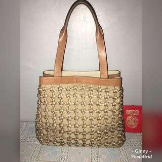 Unbranded Leather Braided Tote