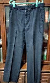 🚚 [36吋腰圍]男西褲、正黑色,專櫃品牌,二手極新