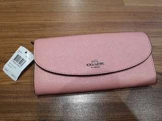 Authentic!! Coach wallet pink blush soft and