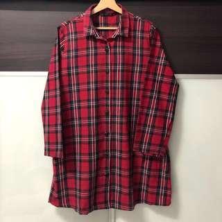 Zara Checkered Shirt Blouse #shero