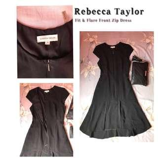 ❗️88% OFF❗️REBECCA TAYLOR Fit & Flare Black Dress