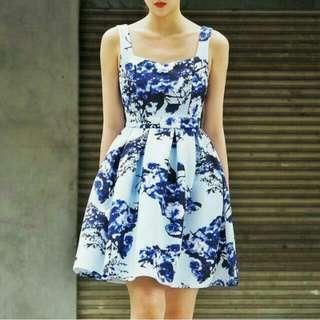 Doublewoot Daruyn Blue Floral Dress