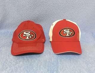 2 NFL Team Apparel Caps