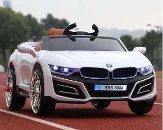 White BMW Rechargeable Ride On Car with Leather Seats