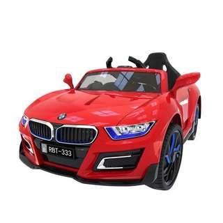 Red BMW Rechargeable Ride On Car with Leather Seats