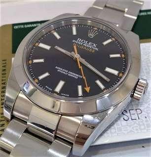 Rolex 116400 Milgauss Black Dial V Serial Year 2010