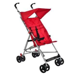 Stroller baby kids pram with canopy lightweight yet sturdy