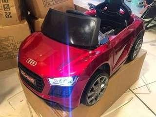 Metallic Red Rechargeable Ride On Car