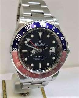 Rolex 16700 GMT Master Pepsi U serial Year 1998