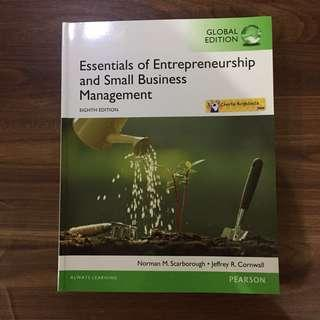 ESSENTIAL OF ENTREPREUNERSHIP AND SMALL BUSINESS MANAGEMENT 8ED