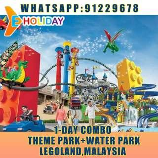 【Eholiday】Legoland Malaysia  1 Day Combo (Theme Park + Water Park) adult(12-59) 乐高乐园 1日 门票