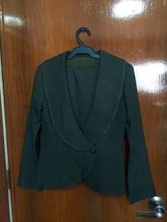 Green Retro Blazer Skirt terno set