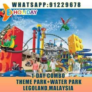 【Eholiday】Legoland Malaysia  1 Day Combo (Theme Park + Water Park)  child(3-11)乐高乐园 1日 门票