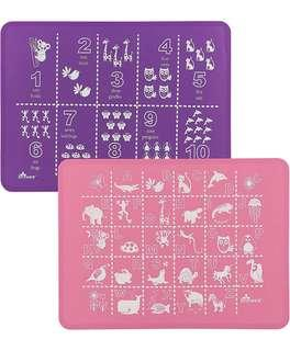 Brinware baby silicon placemat set of 2 - 嬰幼兒矽膠餐墊一套2張
