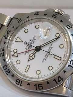 Rolex 16570 Explorer II White Dial X Serial